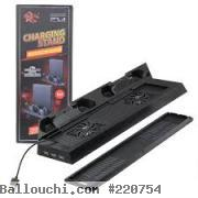 Support vertical stand recharge manette  pour ps4 slim