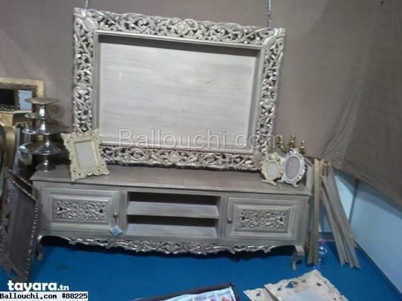 Meuble table tv divers meubles deco ref 88225 for Annonce tunisie meuble